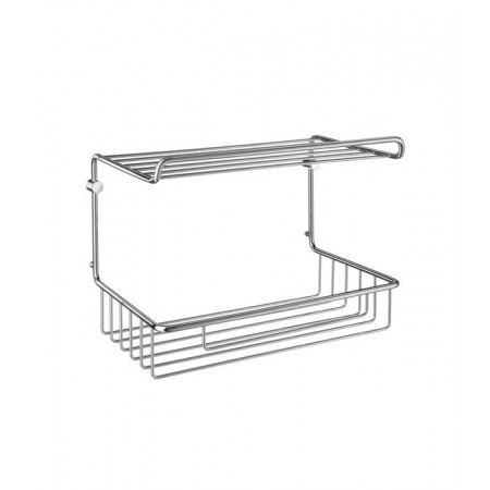 Smedbo Sideline  Guest Towel basket in Polished Chrome, DK1055