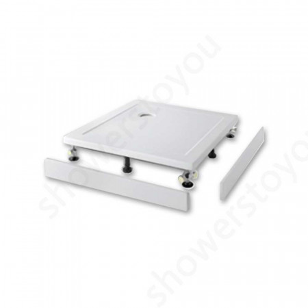 1200mm x 1000mm Rectangular Lakes Low Profile Shower Tray & Fast Flow Waste