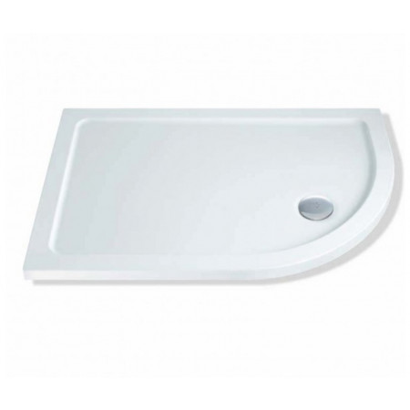 1200mm x 800mm Lakes Low Profile Offset Quadrant Shower Tray & Fast Flow Waste Right Hand