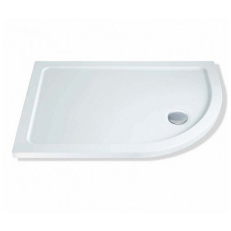 1200mm x 900mm Lakes Low Profile Offset Quadrant Shower Tray & Fast Flow Waste Right Hand