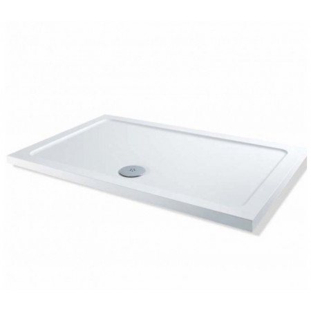 1600mm x 800mm Rectangular Lakes Low Profile Shower Tray & Fast Flow Waste