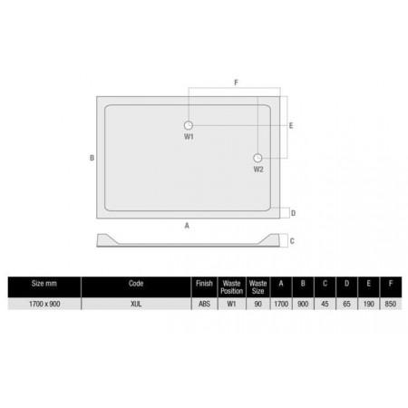Rectangular Shower Tray Durastone Low Profile