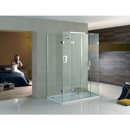 Aquadart 1600 x 800mm 3 Sided Shower Enclosure-2