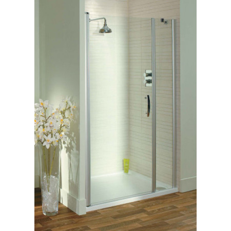 Lakes Italia Latina 1100mm Pivot Shower Door & In Line Panel