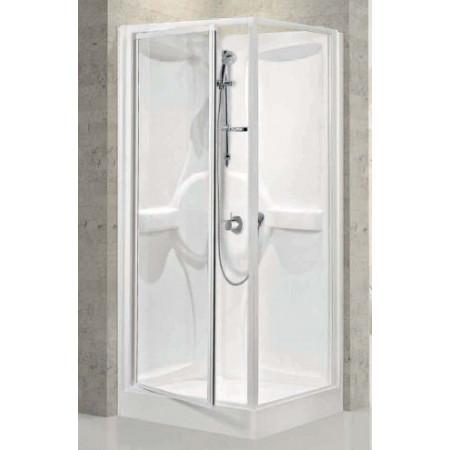 Shower Pod ,900mm Pivot Door & Panel Shower Pod
