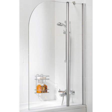 Lakes Bathrooms 1000mm Curved Double Bath Screen