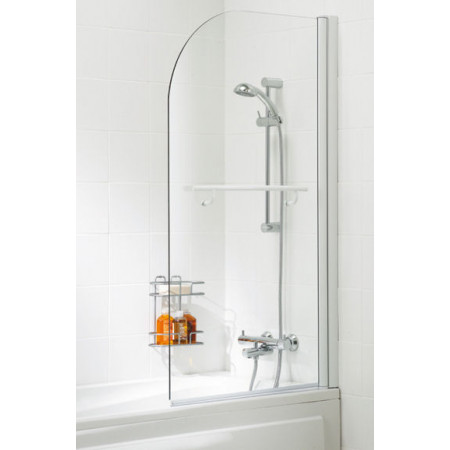 Lakes Bathrooms 800mm Curved Bath Screen With Towel Rail