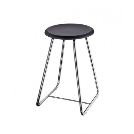 Smedbo Outline Shower Stool Stainless Steel Frame Black Seat