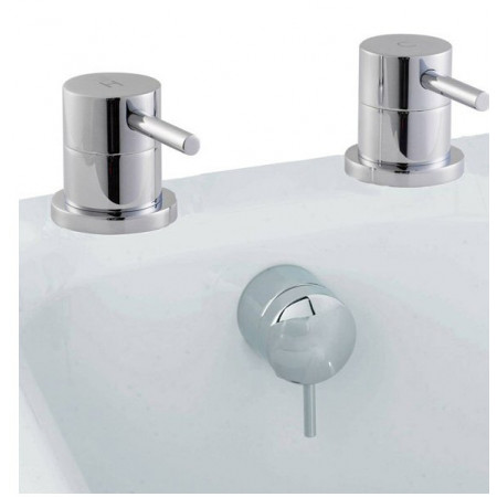 Premier Quest Freeflow Bath Filler Side Valves & Waste