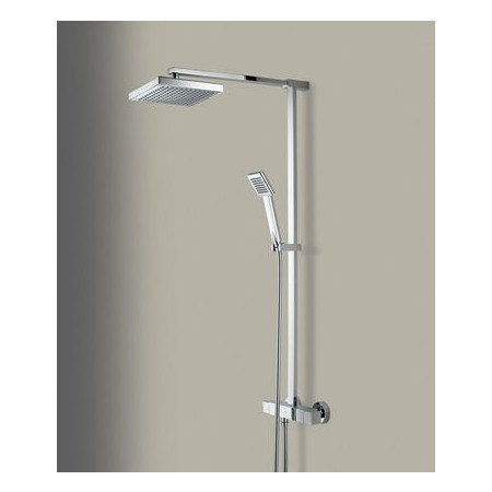 Bristan Quadrato Thermostatic Shower With Fixed & Adjustable Heads