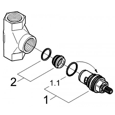 Grohe Grohtherm 3000 HP Concealed Stop Valve 1/2