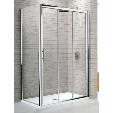 Novellini Lunes 1060 Three Section Sliding Shower Door