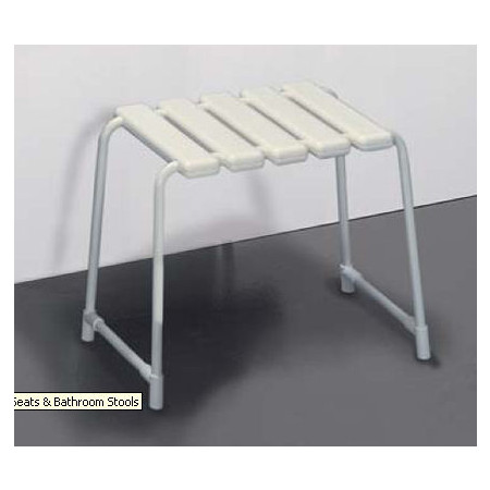 Lakes Bathrooms Animo White Shower Stool