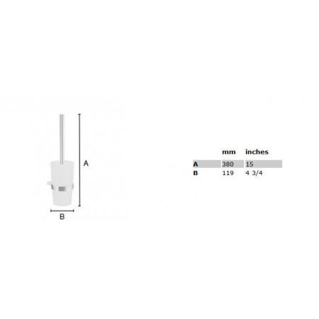 Smedbo Air Wall Mounted Toilet Brush & Holder AK333