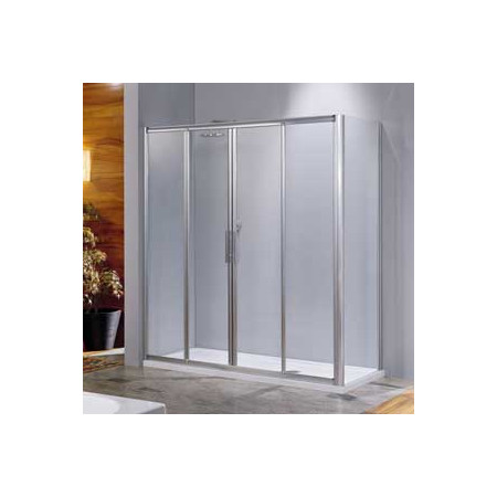 Novellini Lunes 2A 1200mm Four Section Shower Doors
