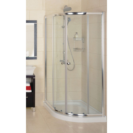 Roman Collage Offset Quadrant Shower Enclosure 1200 x 900mm