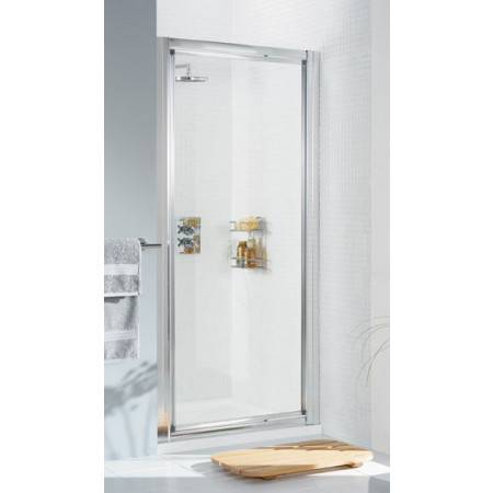 Lakes 900mm Framed Pentagon Shower Enclosure with Pivot Shower Door