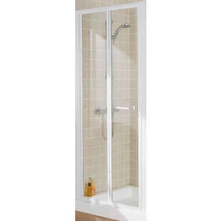 Lakes Bathrooms 900mm Semi Frameless Pentagon Shower Enclosure with Bifold Door