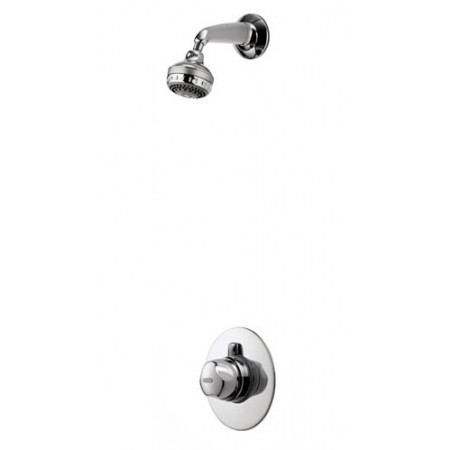 Aqualisa Aquavalve 700 Concealed Thermo Shower Valve & Varispray Fixed Shower Head