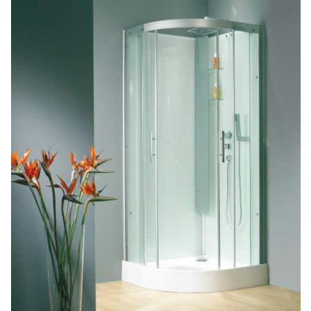 Kinedo Horizon 900 x 900mm Quad Slider Thermostatic Shower Pod | CA118A12