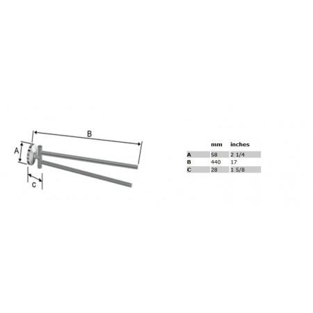 Smedbo Studio Swing Arm Towel Rail Polished Chrome
