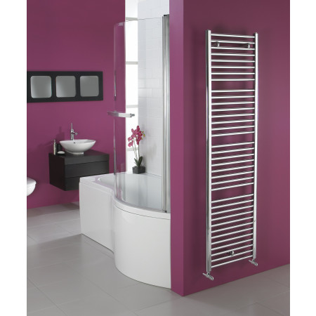 Chrome Heated Towel Rail 1110 x 600