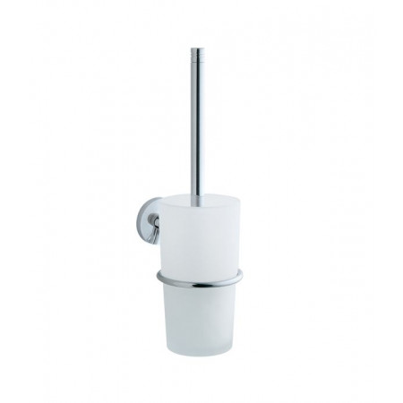 Smedbo Studio Wallmount Toilet Brush NK333, polished chrome, frosted glass