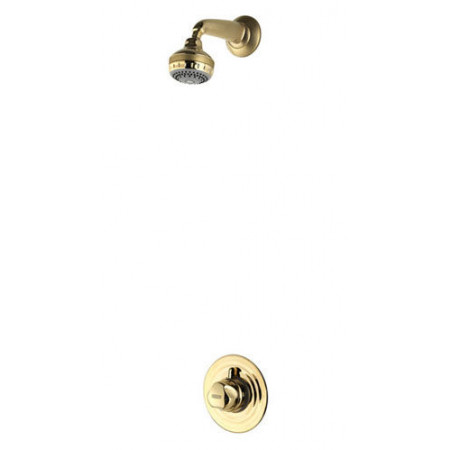 Aqualisa Aquavalve 700 Gold Concealed Thermo Shower Valve & Varispray Fixed Shower Head
