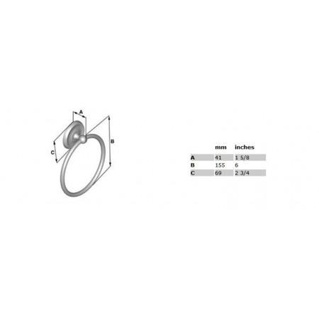Smedbo Villa Towel Ring, Polished Chrome