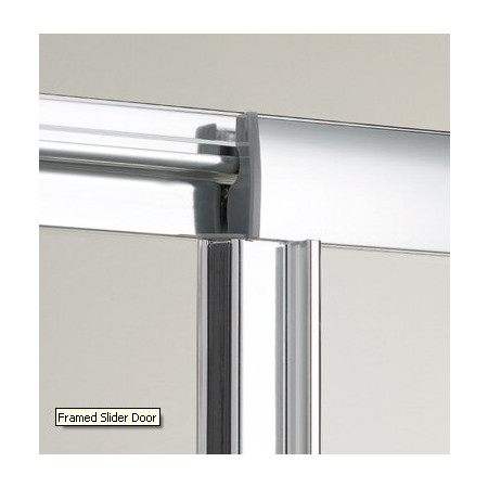 Lakes Bathrooms 1100mm Framed Sliding Shower Door