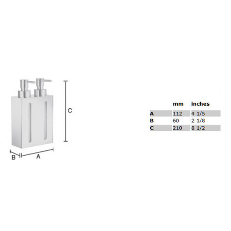 Smedbo Outline Soap Dispenser Wallmount, 2 containers