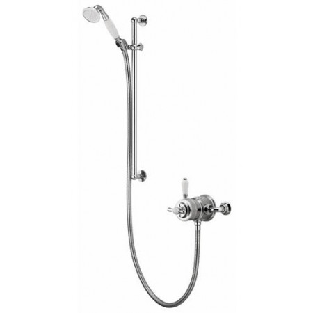 Aqualisa Aquatique Chrome Thermo Exposed Shower Valve with Adjustable Shower Kit