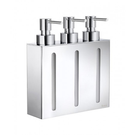 Smedbo Outline Soap Dispenser Wallmount, 3 containers