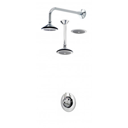 Aqualisa Axis Thermo Shower Valve & Fixed Shower Head