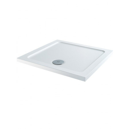 800mm x 800mm Lakes Low Profile Shower Tray & Fast Flow Waste