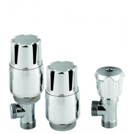 Hudson Reed Angled Thermostatic Radiator Valve Pack