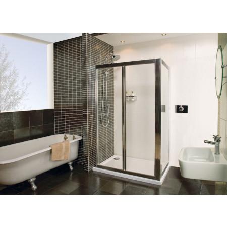 Roman Collage 700mm BiFold Shower Door Silver