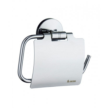 Smedbo Studio Toilet Roll Holder with Lid Polished Chrome