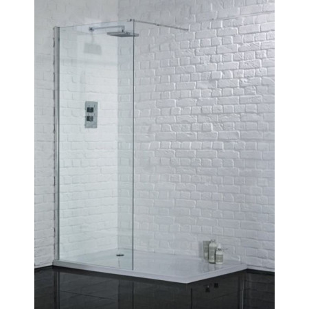 8mm Wetroom 700mm Safety Glass Shower Panel