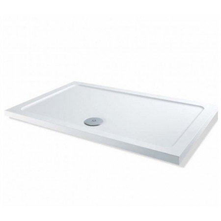 900mm x 760mm Rectangular Lakes Low Profile Shower Tray & Fast Flow Waste