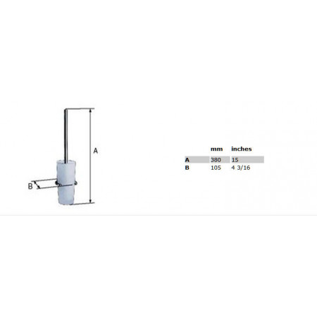Smedbo Loft Toilet Brush & Holder