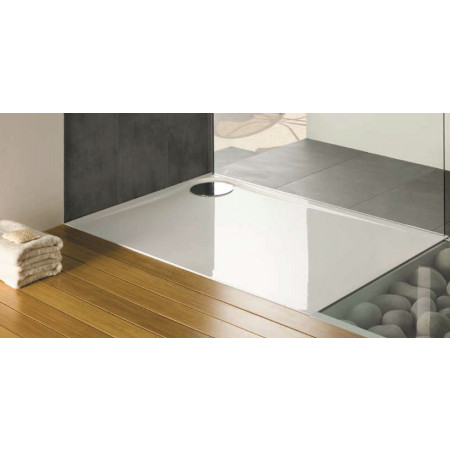 MX Optimum 1200 x 800mm Rectangular Shower tray right hand