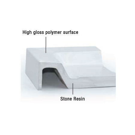 MX Classic Stone Resin Rectangular Shower Tray 1100 x 760mm