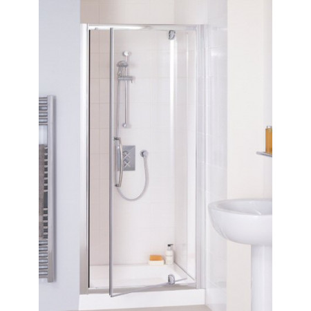 Lakes 760mm Semi Frameless Pivot Shower Door