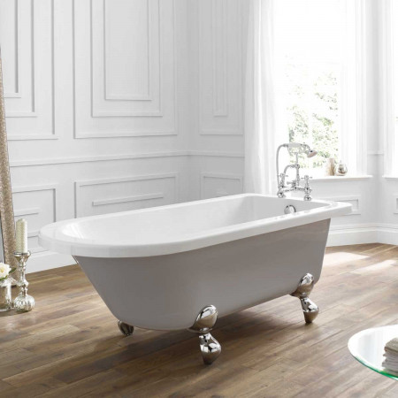 April Bentham Single Ended Freestanding Bath in Dove Grey