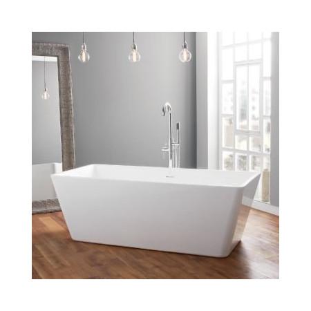 April Boston Contemporary Freestanding Bath In Room Setting