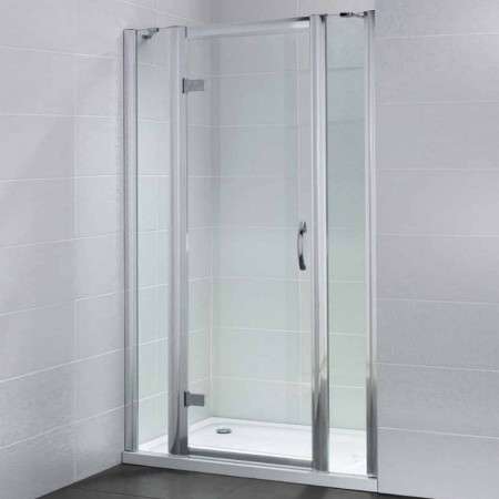 April Identiti2 Hinge Door & 2 In Line Panels 1400mm Enclosure