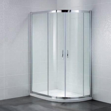 April Identiti2 Offset Double Door Quadrant Shower Enclosure 1200mm x 800mm