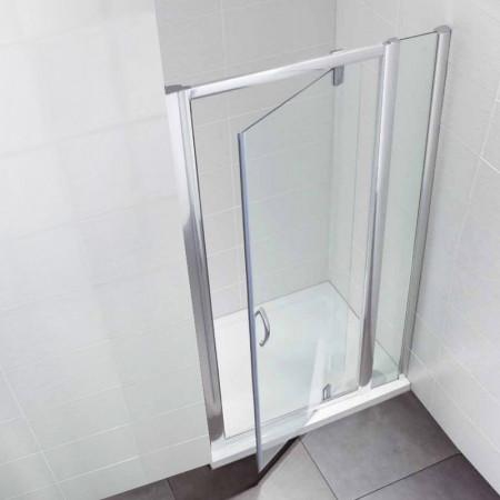 April Identiti2 Pivot Door & In Line Panel 1100mm Enclosure