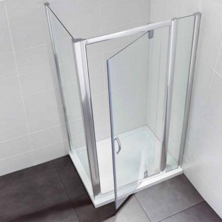 April Identiti2 Pivot Door & In Line Panel 900mm Enclosure